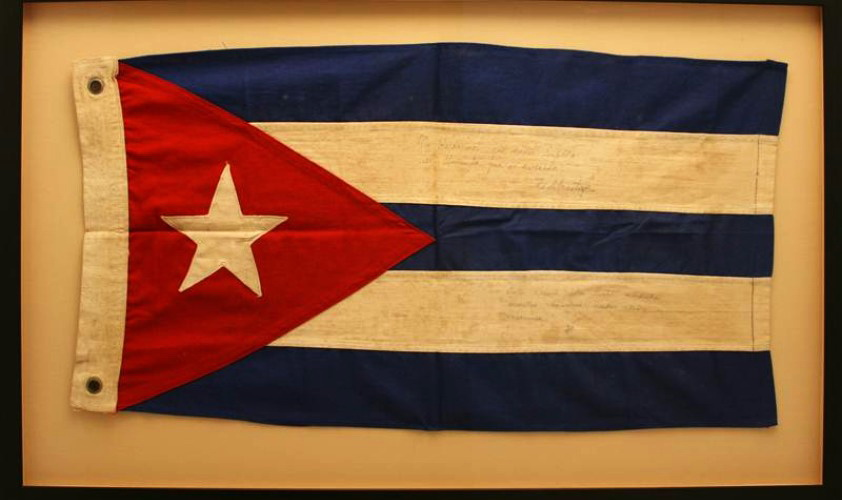 Most Expensive Autograph in the World Fidel Castro Signed Cuba flag