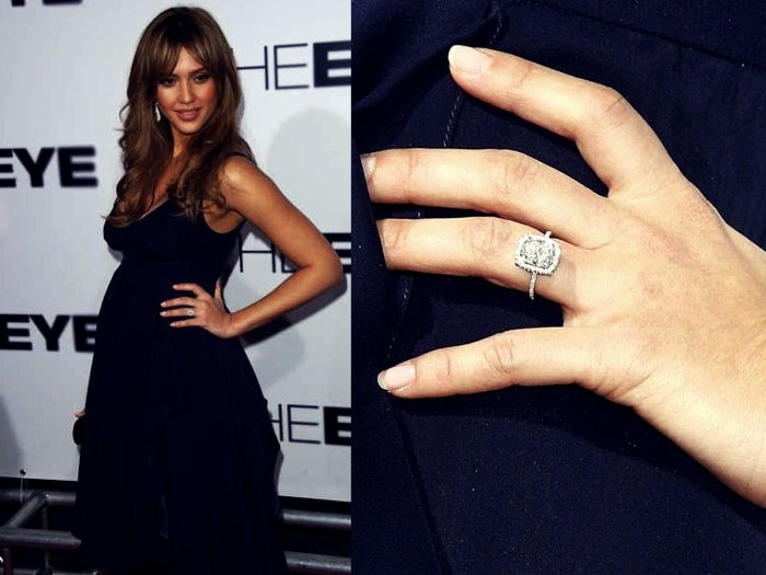 Most Expensive Celebrity Engagement Rings  Top 10 10. Jessica Alba - $100.000