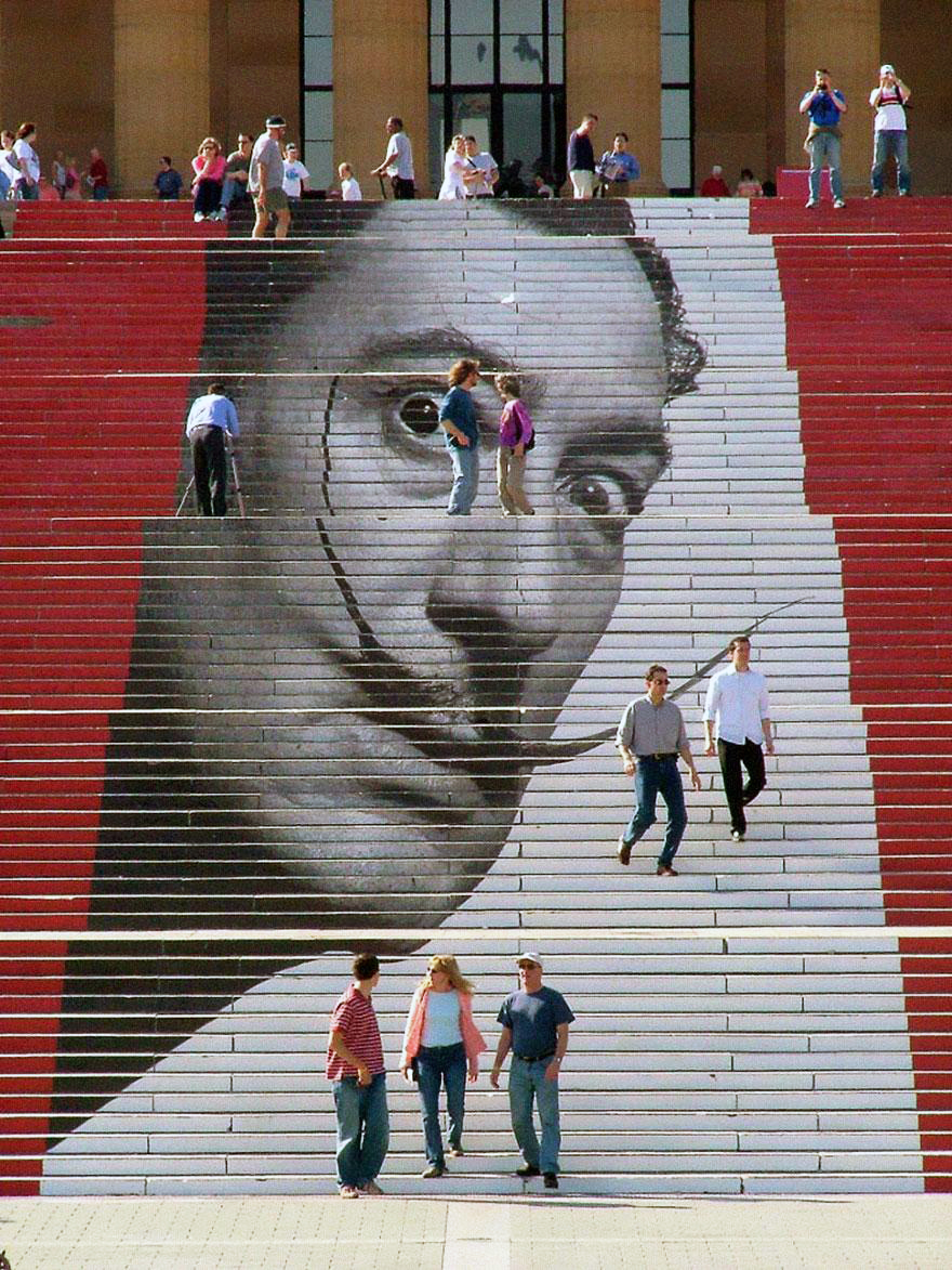 Stairs Turned Into Amazing Piece of Art| Philadelphia Museum of Art