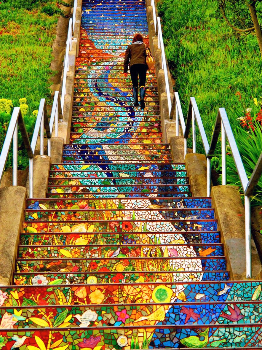 Stairs Turned Into Amazing Piece of Art- 16th.Avenue.Tiled.Steps.San.Francisco