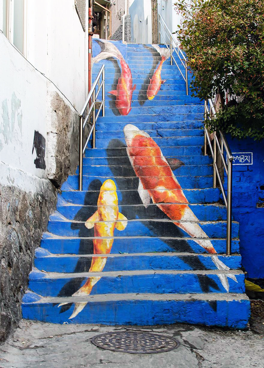 Stairs Turned Into Amazing Piece of Art Seoul, South Korea