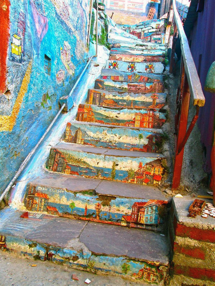 Stairs Turned Into Amazing Piece of Art| Valparaiso Chile