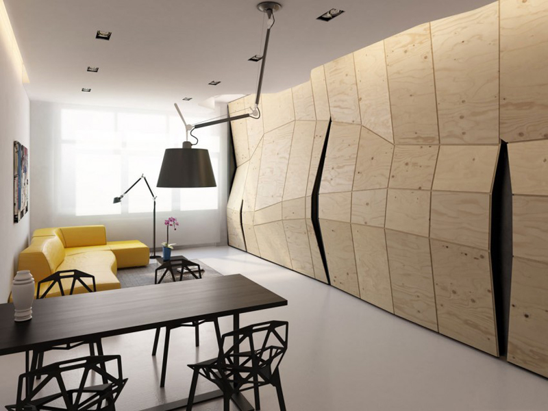 Transformer Apartment Has A Changeable Wall That Will Blow Your Mind