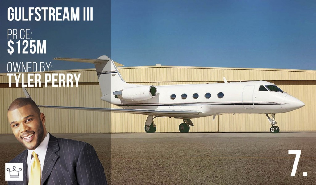 Top 10 Most Expensive Private Jets in the World Who Own Them And 7. Gulfstream III owned by Tyler Perry – Price: $125 million