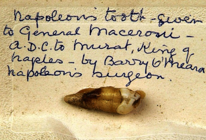 10 Expensive Items That Broke A Guinness Record 10. Tooth of Napoleon Bonaparte - $19.140