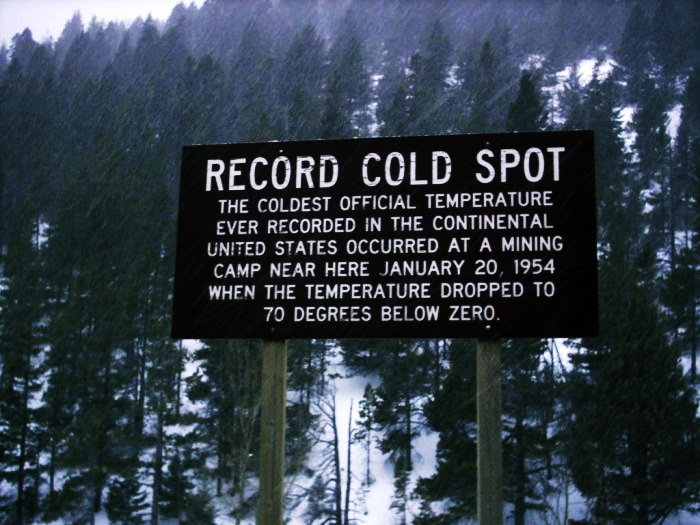 Coldest Places on Earth  Top 10 10. Rogers Pass, Montana, US :  -70 degrees Fahrenheit