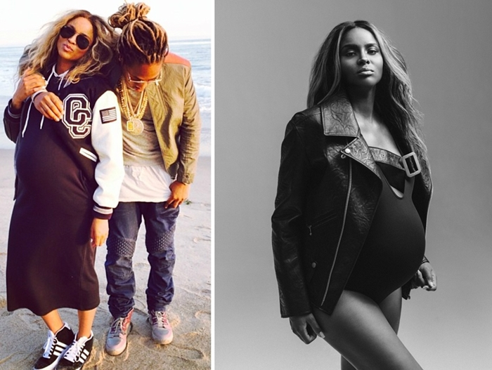 hottest pregnant celebrities