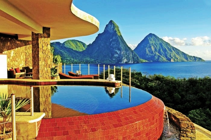 10 Clifftop Hotels That Will Blow You Away 10. Jade Mountain Resort, St. Lucia, Caribbean