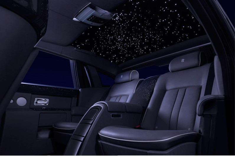 10 Most Expensive Luxury Car Options For The Billionaires - Rolls Royce Phantom -  Starlight Headliner - $12.350