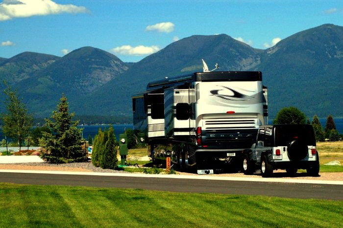 Best Luxury Trailer Parks in the World 10. Polson Motorcoach and RV Resort, Montana