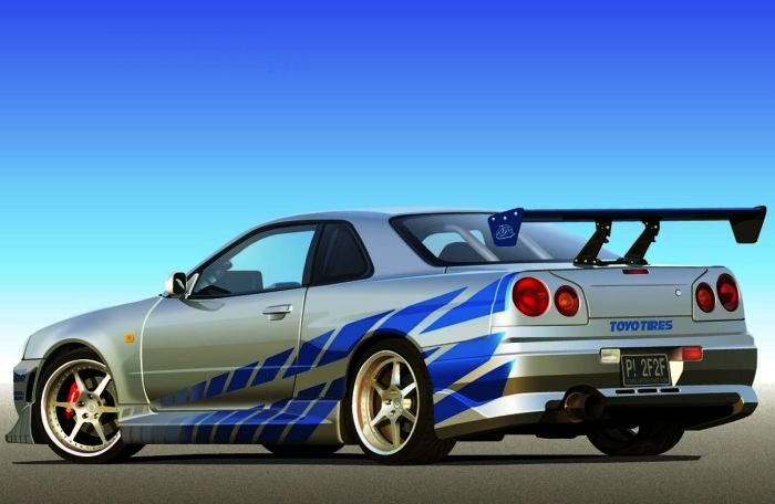 Coolest Fast and Furious Cars  Top 10 10. 1999 Nissan Skyline GT-R R34