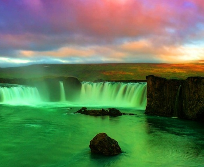 Most Breathtaking Waterfalls Around the World 10. Godafoss, Iceland