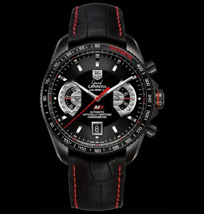 Most Expensive Tag Heuer Watches  Top 10 10. Grand Carrera Calibre 17 RS2 Automatic Chronograph 43 MM - $8.500