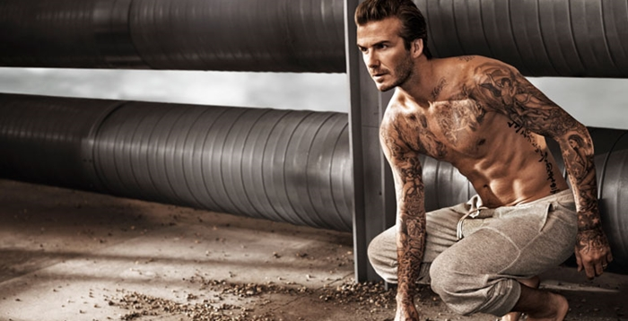 Top 10 Best Male Abs In Hollywood - David Beckham