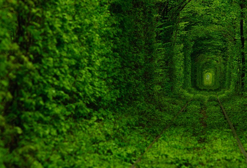 Top 10 Most Unique And Luxurious Vacation Destinations - Tunnel of Love, Ukraine