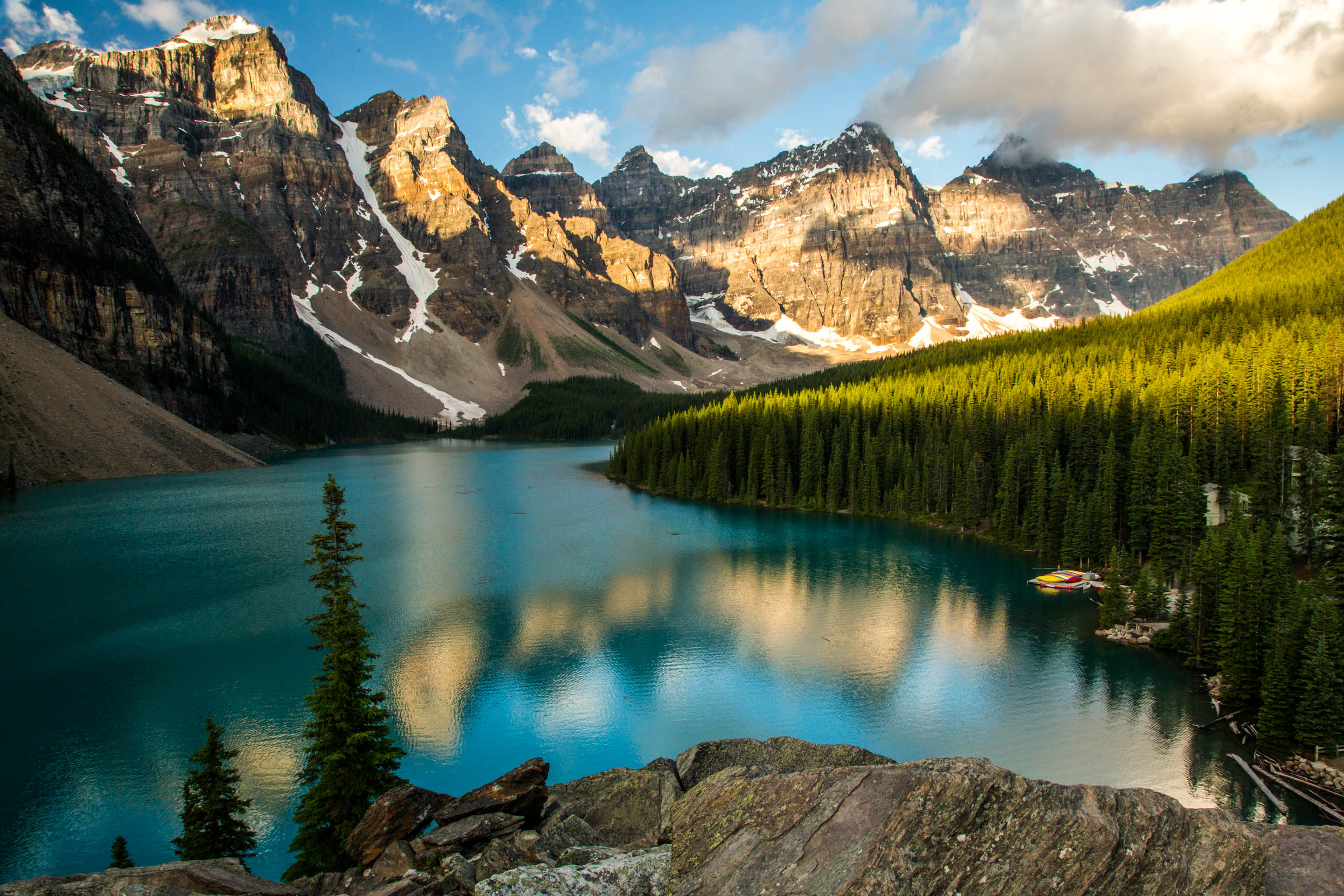 Top 10 Most Unique And Luxurious Vacation Destinations - Valley of 10 Peaks, Alberta, Canada
