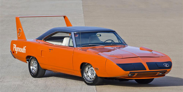 Top 10 Rarest  American Muscle Cars - 1970 Plymouth Hemi Superbird - 135 Produced
