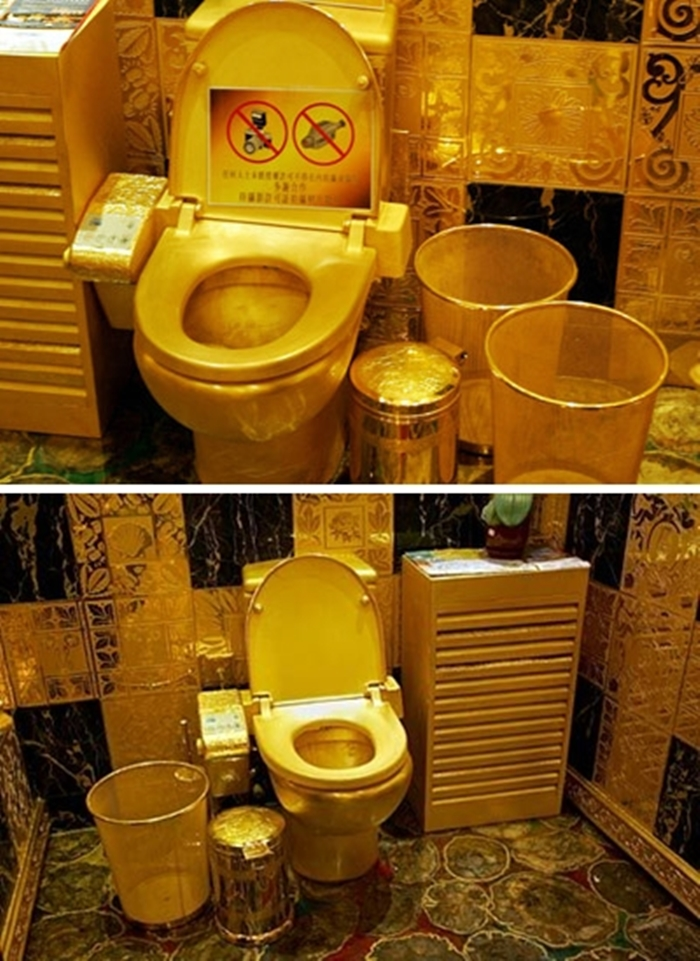 Top 10 World's Most Expensive Things Made Of Gold - 7. Hang Fung Gold Technology Group Toilet - $2.5 Million