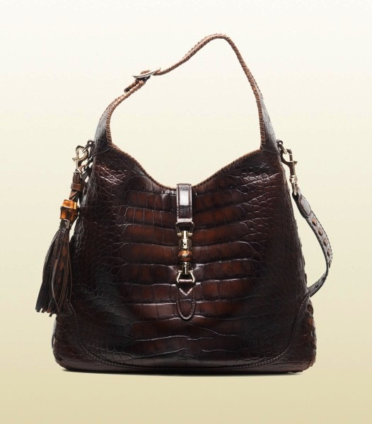 14a75174090b84  2 Gucci Jackie Crocodile Shoulder Bag - Price  37.400 Most Expensive Gucci  Products Top 10