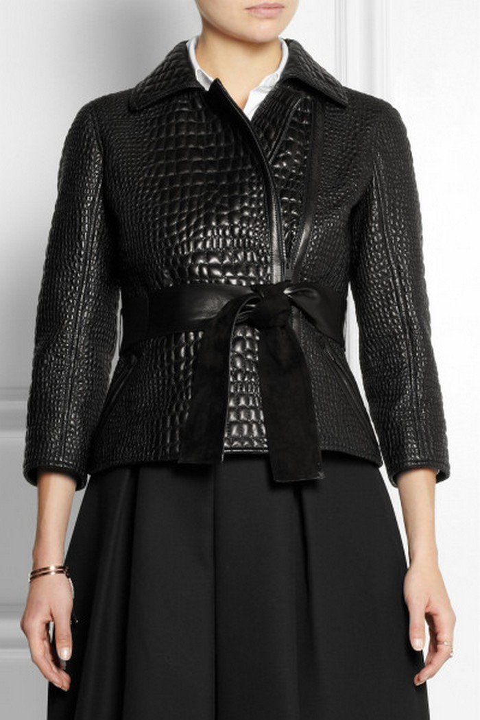 10.Fendi Croc-effect Leather Jacket - Price:$6,900 | Most Expensive Fendi Products