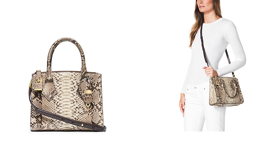 77b945cb9296 Most Expensive Michael Kors Bags - 10. Casey Python Small Satchel - $2.495