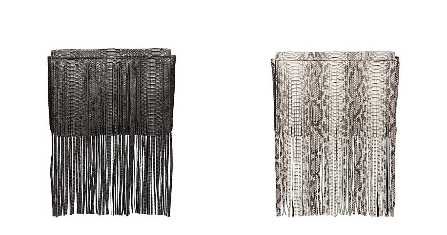 bb48c5deb111 Most Expensive Michael Kors Bags - 8. Joni Python Fringe Clutch - $2.695