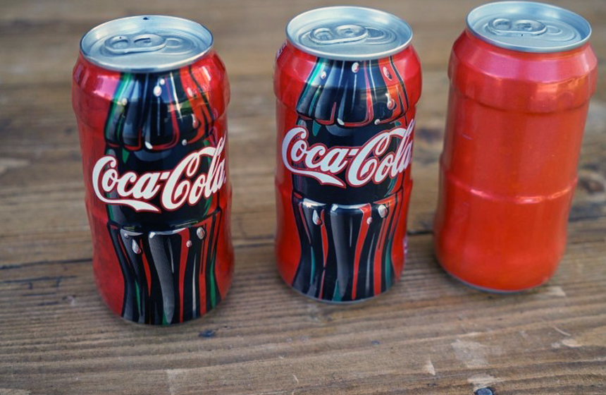 10- Coca Cola 1997 prototype cans from TV commercial- $750