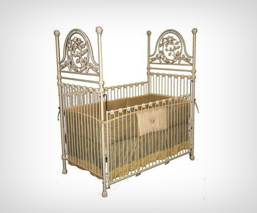 upscale baby furniture. #7 Baby Crib Versailles Garden Iron - Price $3.995 | Most Expensive Cribs In Upscale Furniture O
