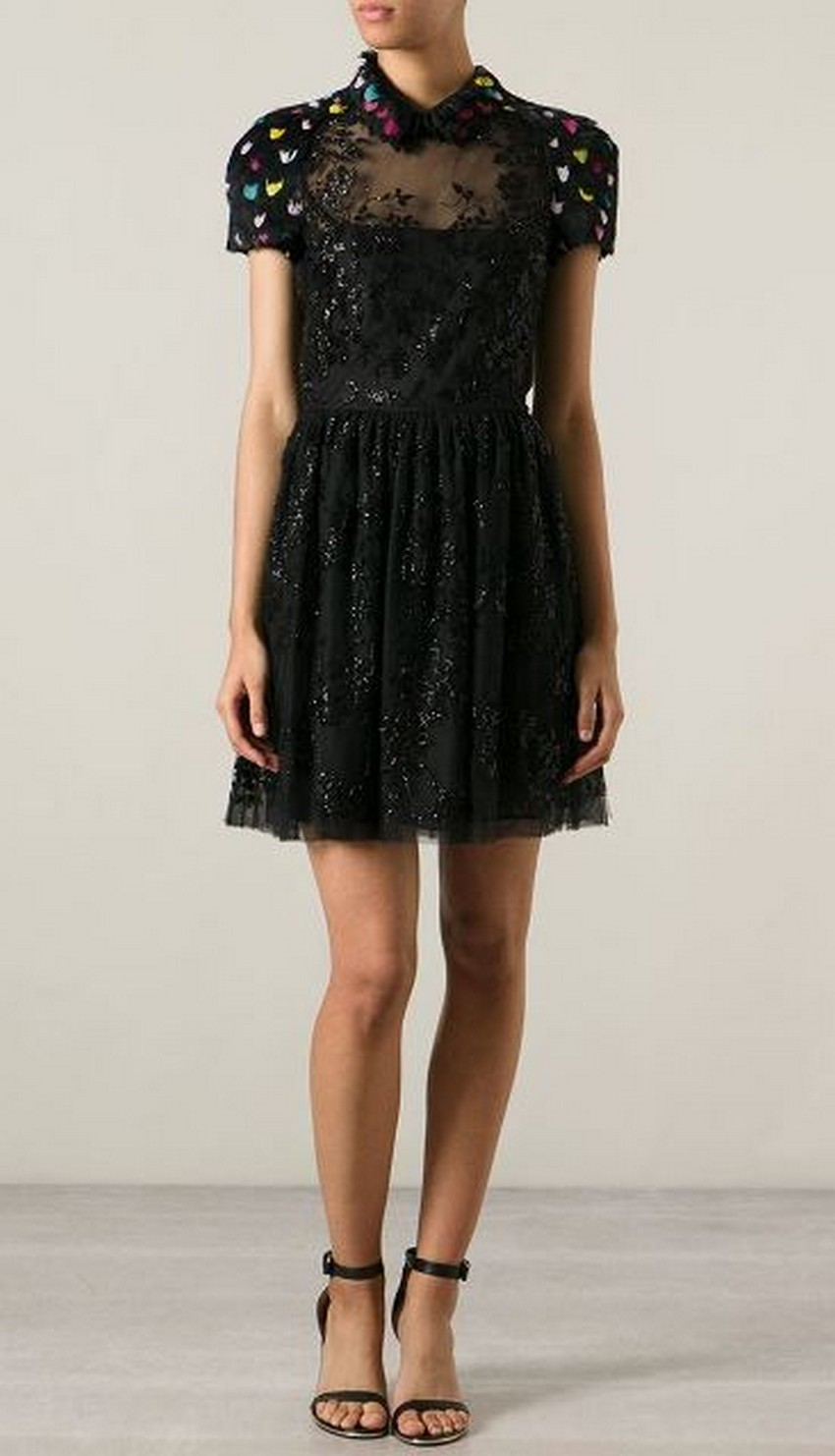 0e3b4934a1b Feather and Bead-embellished Dress - Price   10