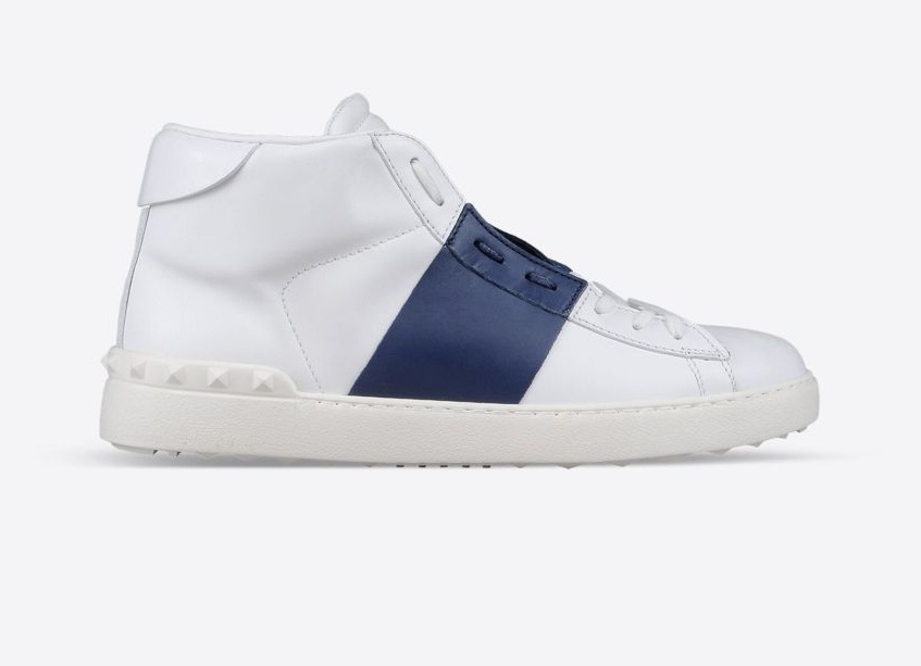 #10 Valentino Open High-Top Sneaker in Calfskin - Price $795 | Most Expensive Valentino Products | Top 10 [ Image Source: valentino.com]