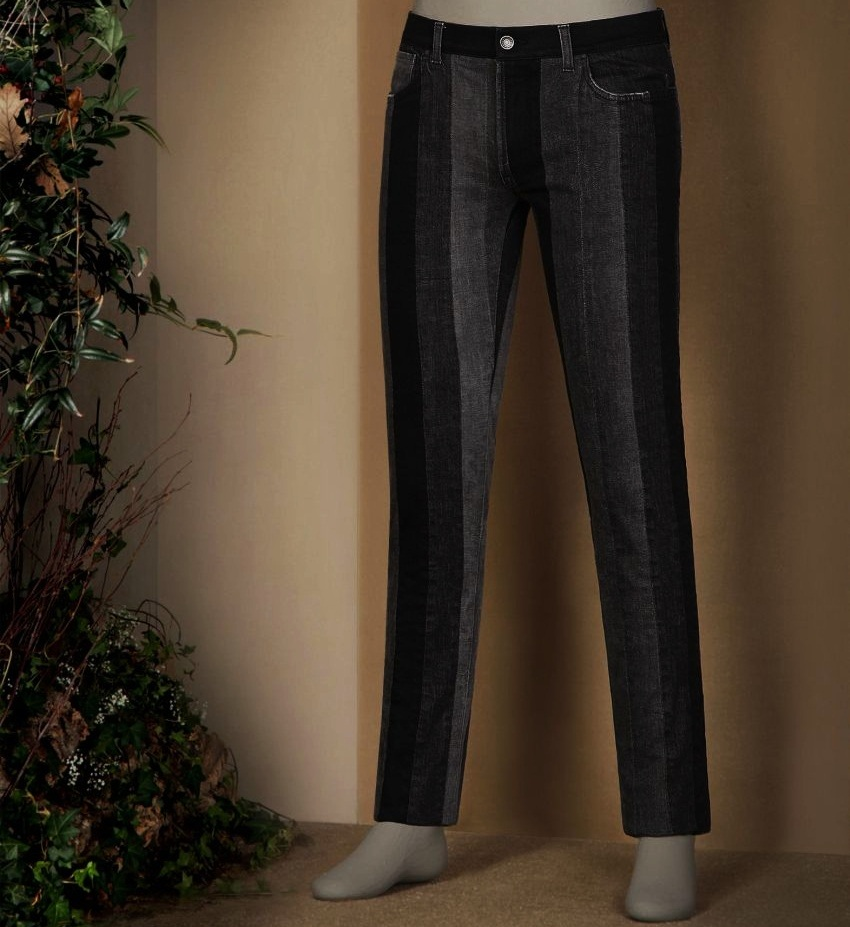 #9 Dolce & Gabbana Grey Patchwork 14 Fit Gold Stretch Denim Jeans - Price $1.425 | Most Expensive Dolce & Gabbana Products for Men | Top 10 [ Image Source: store.dolcegabbana.com]