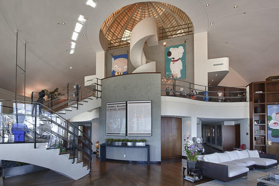 Inside Pharrell Williams' $11 Million Penthouse in Miami  (1)
