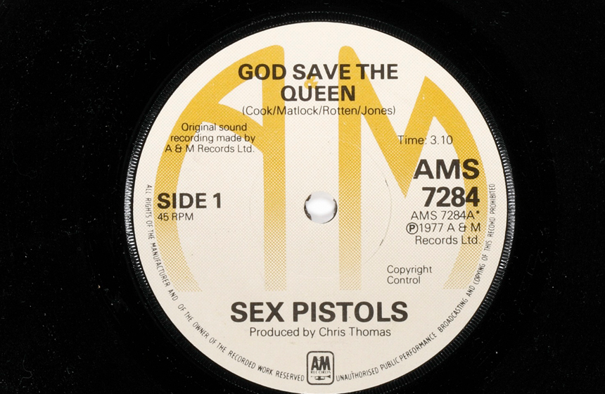 sex pistols 1977 first record label
