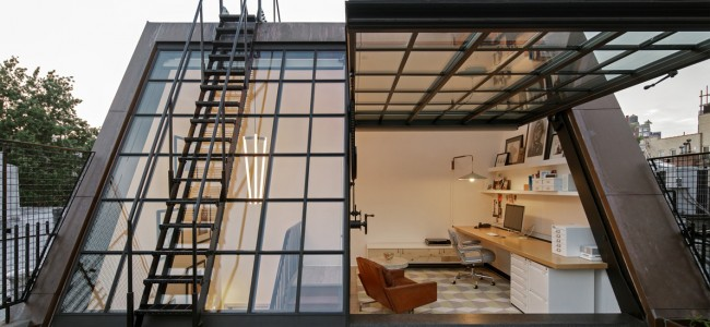 Epic Rooftop Home Office in NYC Makes You Hate Yours!
