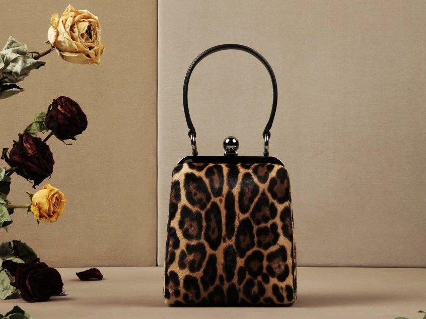 #10 Dolce&Gabbana Leopard-Print Pony Agata Bag - Price $2.595 | Most Expensive Dolce&Gabbana Bags | Top 10 [ Image Source: store.dolcegabbana.com]