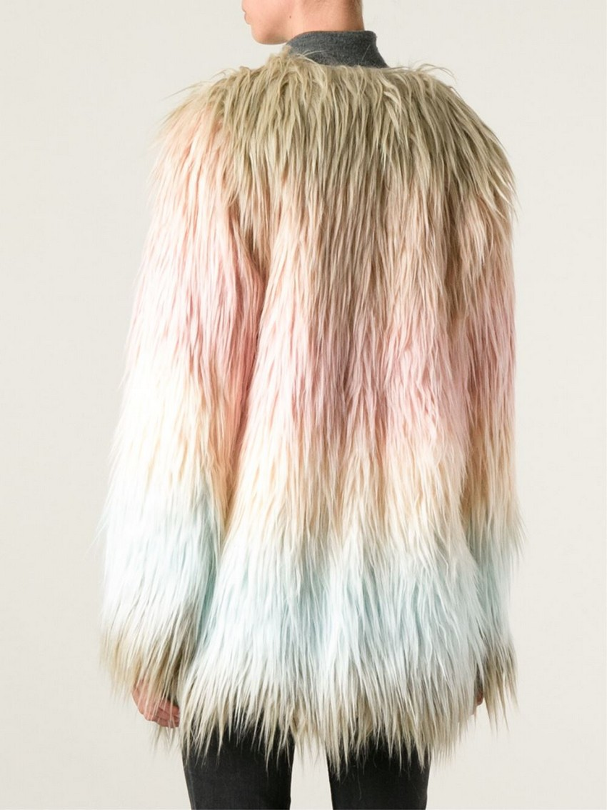 """9. Oui, Odile! – """"Rainbow Angelique"""" Faux Fur Coat 