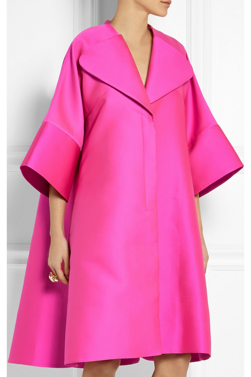 9. Antonio Berardi – Oversized Scuba-Satin Coat | 10 Ultra Chic Statement Coats for the Holiday Season | Image Source: http://www.net-a-porter.com/