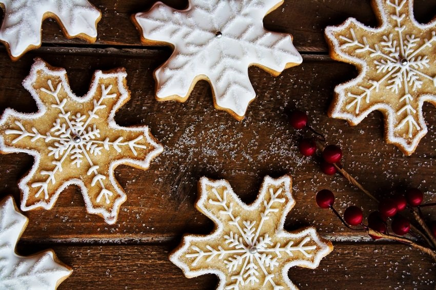 #9 Christmas Snowflake Cookies | Christmas Cookie Ideas | Top 10 [ Image Source: hintofvanilla.blogspot.com]