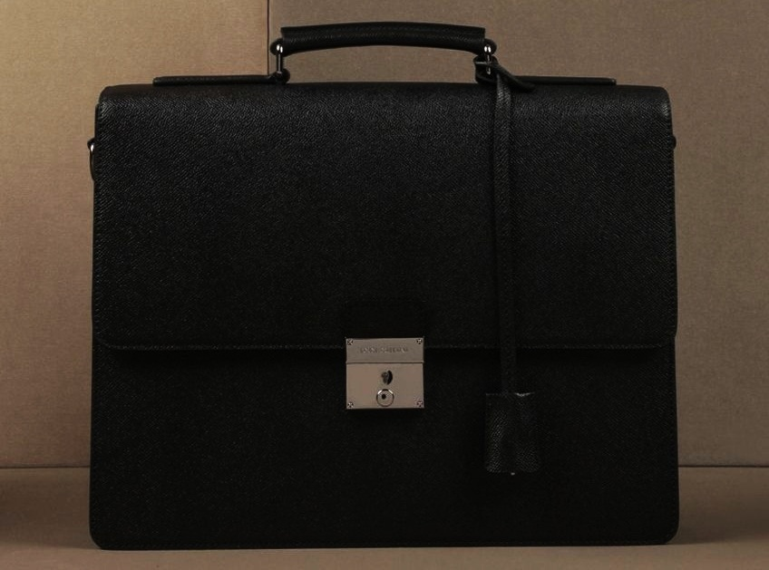 #9 Dolce&Gabbana Dauphine Calfskin Briefcase - Price $2.595 |  Most Expensive Dolce&Gabbana Bags | Top 10 [ Image Source: store.dolcegabbana.com]