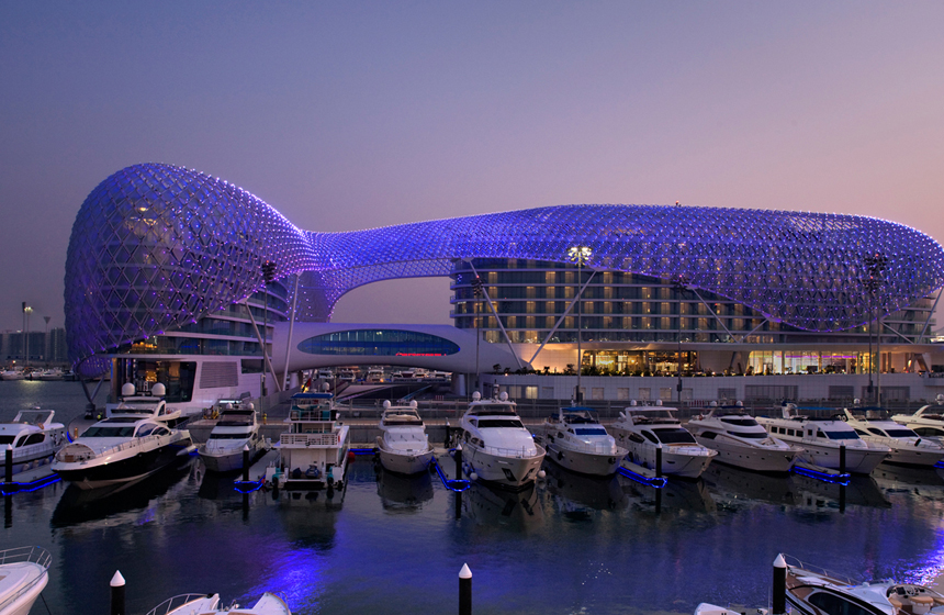 Most Expensive Places to Dock Your Yacht N10. Yas Marina, Abu Dhabi $522 per night