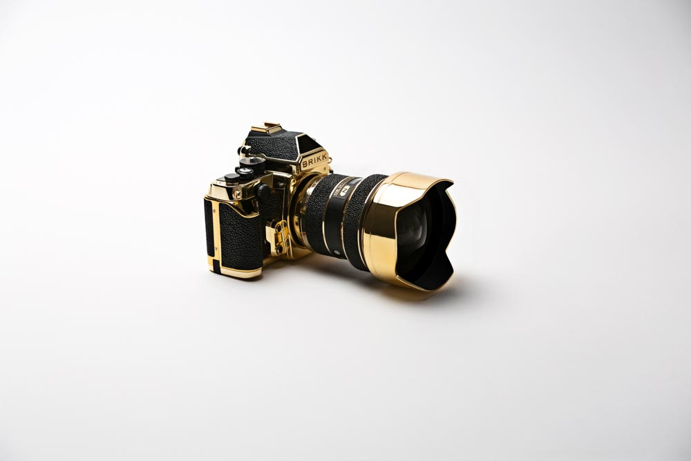 Nikon Camera Made Out of Gold for sale by brikk luxury kit ealuxe (1)