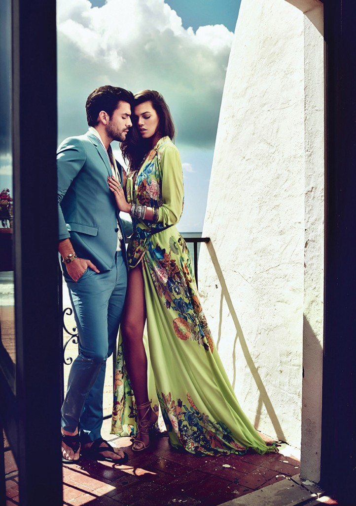 Male and female model dressed in summer clothing for fashion shoot 2015
