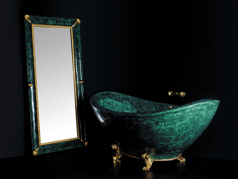 top 10 most expensive bathtubs in the world - Baldi Malachite Bathtub