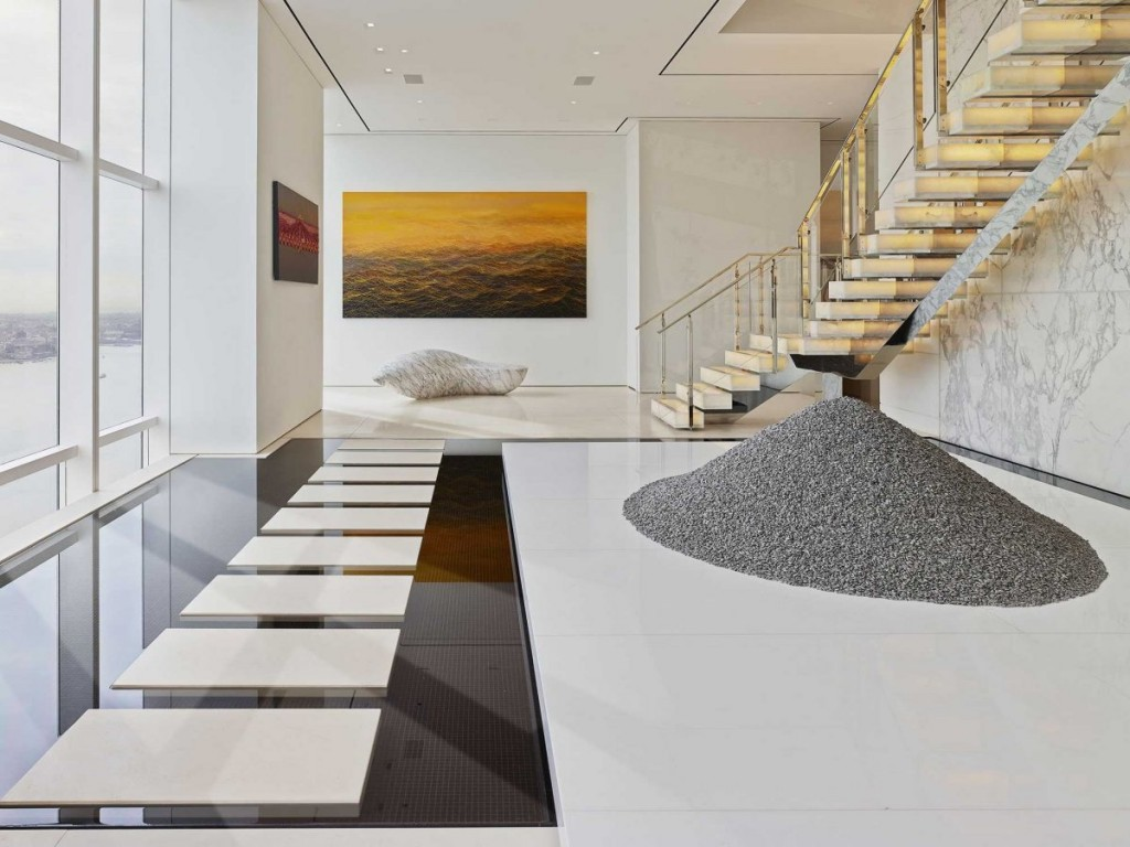what a Billionaire's NYC Penthouse in new york city looks like, interior architecture, luxury home (18)