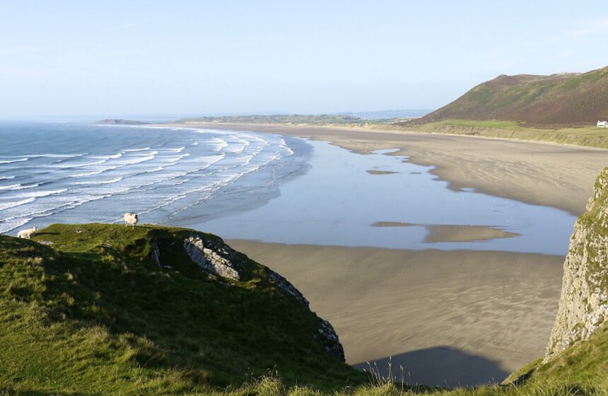 Best Beaches in the World TOP 10-9. Rhossili Bay, Swansea, Wales