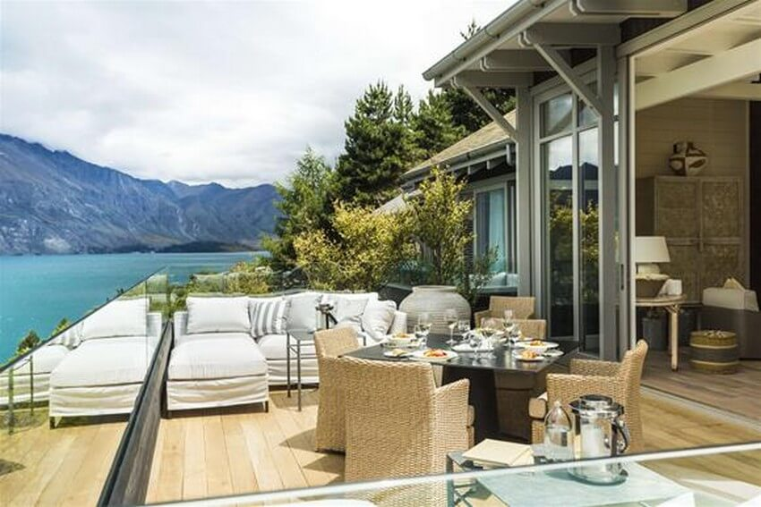 Spend Your New Zealand Vacation in this Unbelievably Stunning Hotel | Main Patio