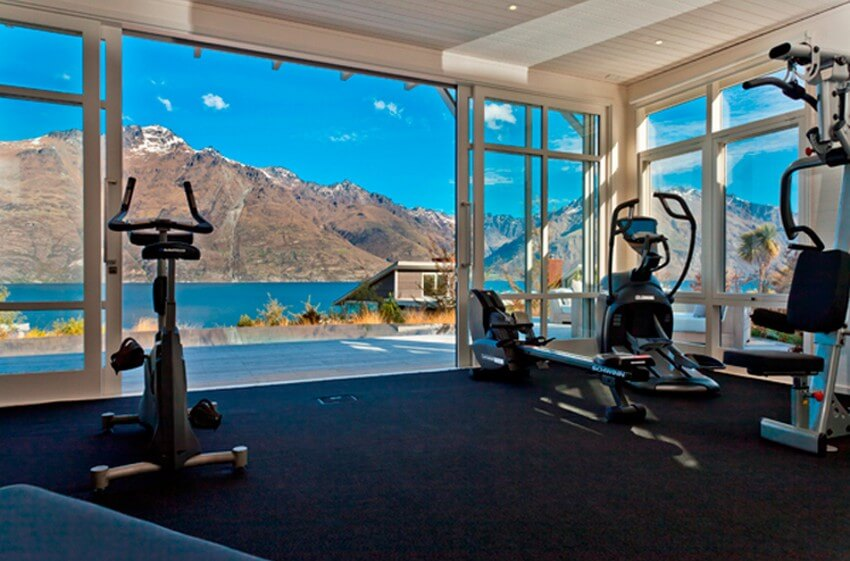 Spend Your New Zealand Vacation in this Unbelievably Stunning Hotel | Matakauri Gym