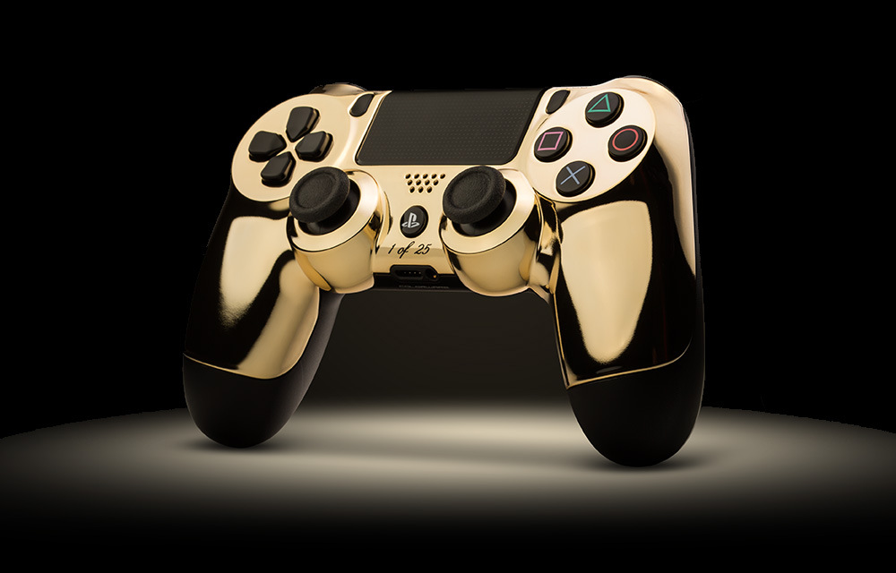PlayStation 4 and Xbox One 24-Karat Gold Controllers