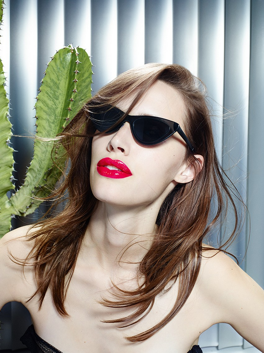 Adam Selman x Le Specs Sunglasses Go Retro-Futuristic | Image Source: media.style.com