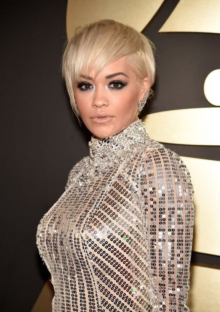 Rita Ora | Beauty Trend Alert: Nude Makeup at the 2015 Grammys | Image Source: http://i1.mirror.co.uk/
